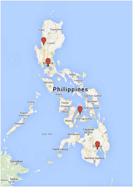 TMAI Philippines map