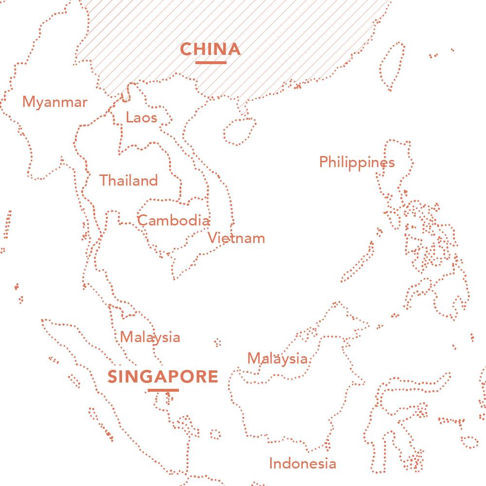 Singapore China Map